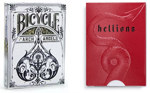 """Angels and Demons"", Archangel and Hellions Playing Cards 2- Deck Set by Bicycle/Ellusionist"