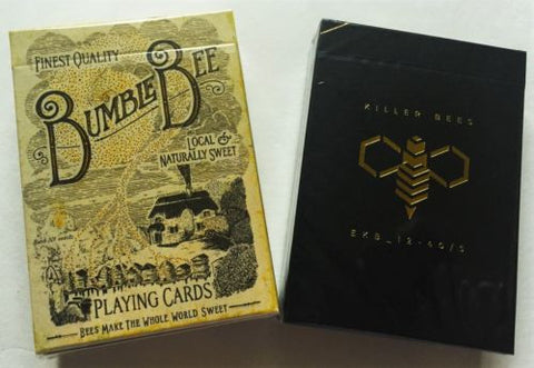 """THE BUZZ"" Ellusionist 2 Playing Card Deck Pack.  The Bumblebee Deck and the Killer Bee Deck"