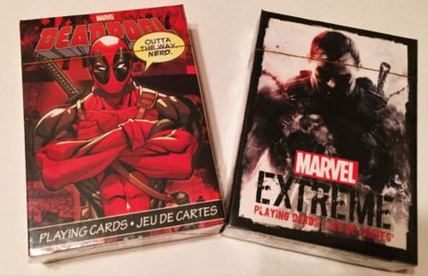 "The ""Very Extreme"" Marvel Playing Card Deck! DeadPool Playing Card Deck and Marv"