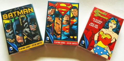 """The Dawn of Justice"" Batman, Superman, and Wonder Woman Playing Cards."