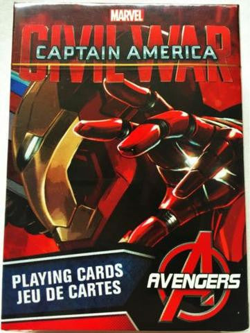 Captain America Civil War Iron Man Playing Cards by Aquarius