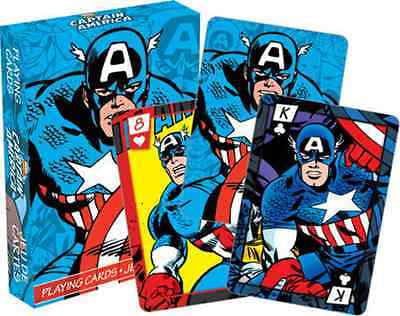 Marvel Captain America Comics Playing Cards by Aquarius