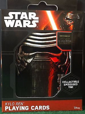 Star Wars The Force Awakens Kylo Ren Playing Cards in Embossed Tin-Disney