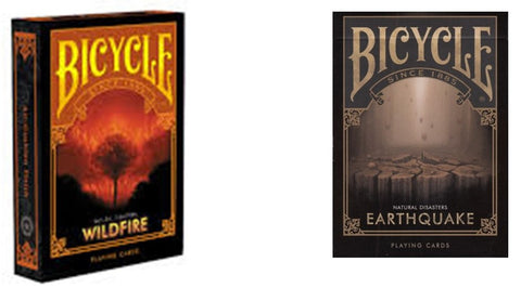 """How's The Weather?"" Wildfire & Earthquake Playing Cards 2-Deck Set by Bicycle"
