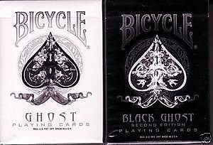 """The Ghost Brothers"" Black & White 2-Deck Set Ghost Playing Cards by Ellusionist"