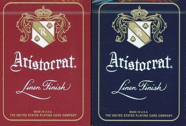 """The Aristocrat's"" Red & Blue Aristocrat 2- Deck Playing Card Set by Theory 11"