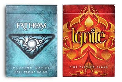"""The War Begins"" Fathom & Ignite (Fire & Water) Playing Cards by Ellusionist"