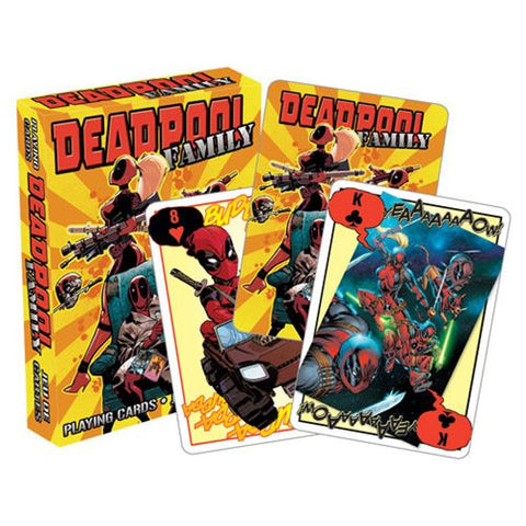 Deadpool Family Playing Cards by Aquarius