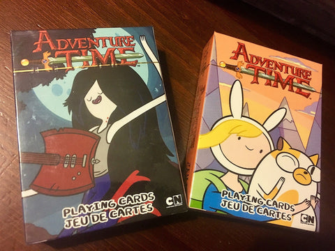 """Adventure Time"" 2-Decks (Adventure Time Fionnaa and Cake) & ( Adventure Time Marceline) Playing Cards by Aquarius"
