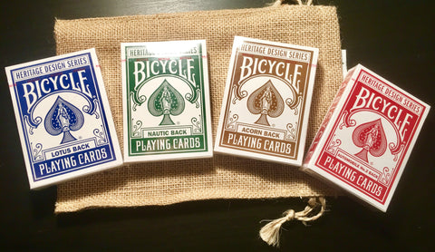 Bicycle Heritage Series 4 Pack w/Bag from Theory 11