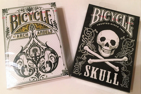 """Dead or Alive"" Archangel & Skull Playing Cards by Bicycle"