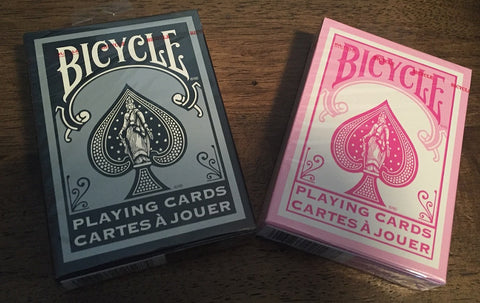 """Pink is the New Black"" Two Pack Pink and Black Bicycle Playing Cards"