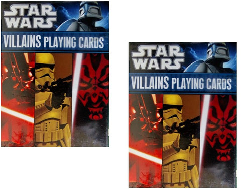 Star Wars Villains Playing Cards 2-Pack Set by Cartamundi
