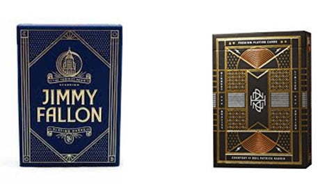 """ The Entertainers"" Jimmy Fallon & Neal Patrick Playing Cards by Theory 11"