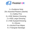 First Aid HSE Catering Kit 1-10 Person -  - 4