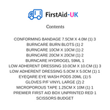 Burns First Aid Kit - First Aid - UK - 2