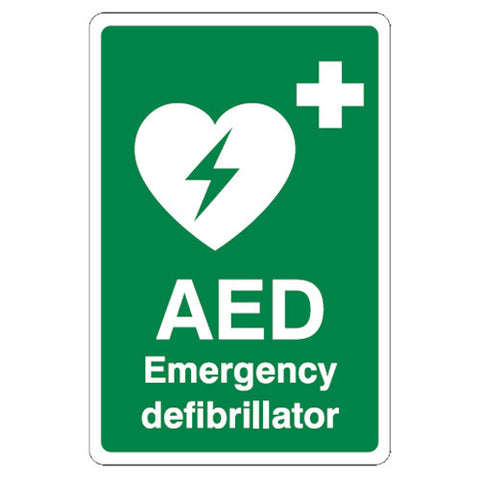 AED First Aid Sign - First Aid - UK