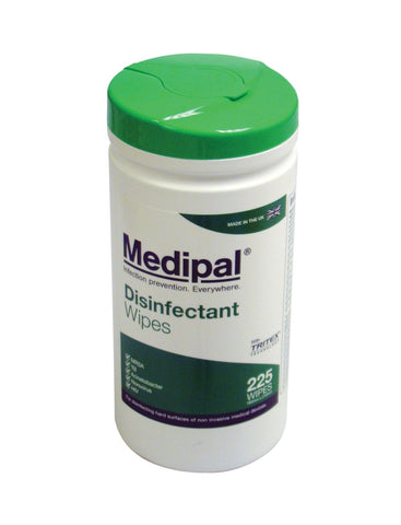 Medipal Disinfectant Wipes (Tub of 225 Wipes) - First Aid - UK