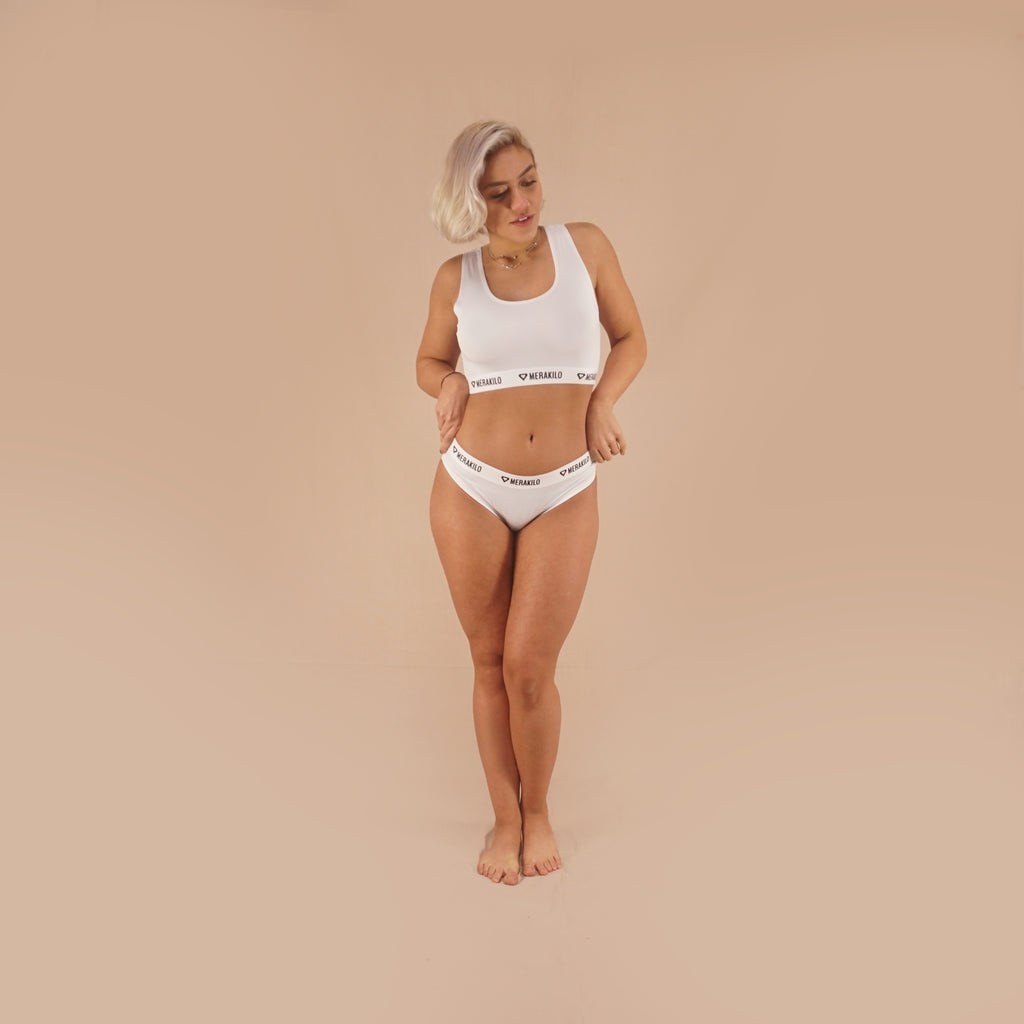 Merakilo Women's Vortex Bottoms - White - merakilo