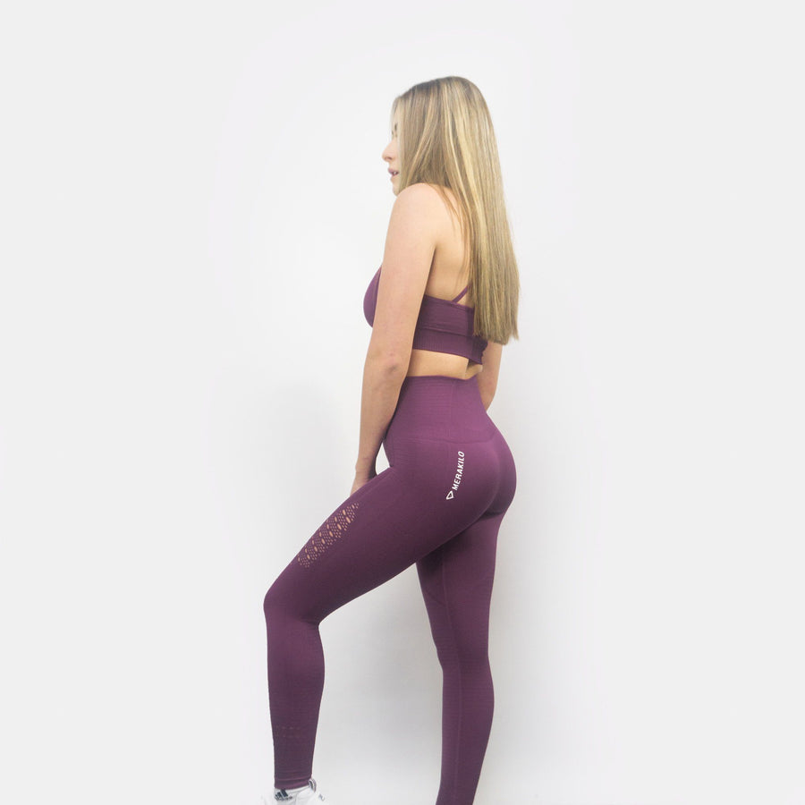Merakilo Adapt Seamless Leggings - Purple - merakilo