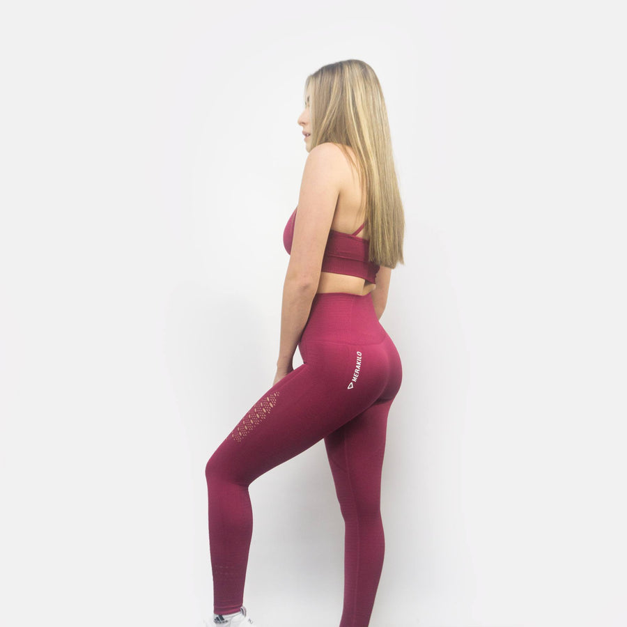 Merakilo Adapt Seamless Leggings - Red - merakilo
