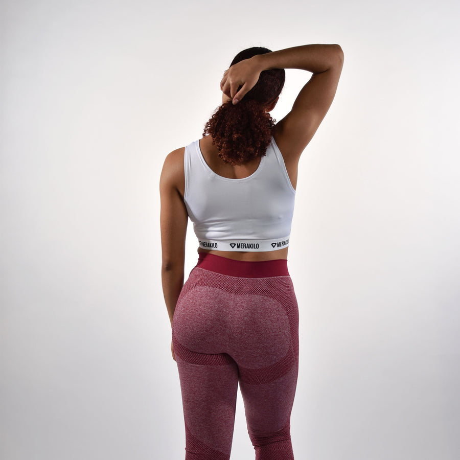 Bottoms & Leggings - Merakilo Fusion Seamless Leggings - Burgundy