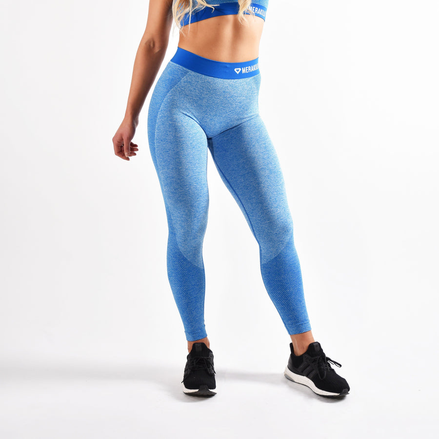 Bottoms & Leggings - Merakilo Fusion Seamless Leggings - Carbon Blue