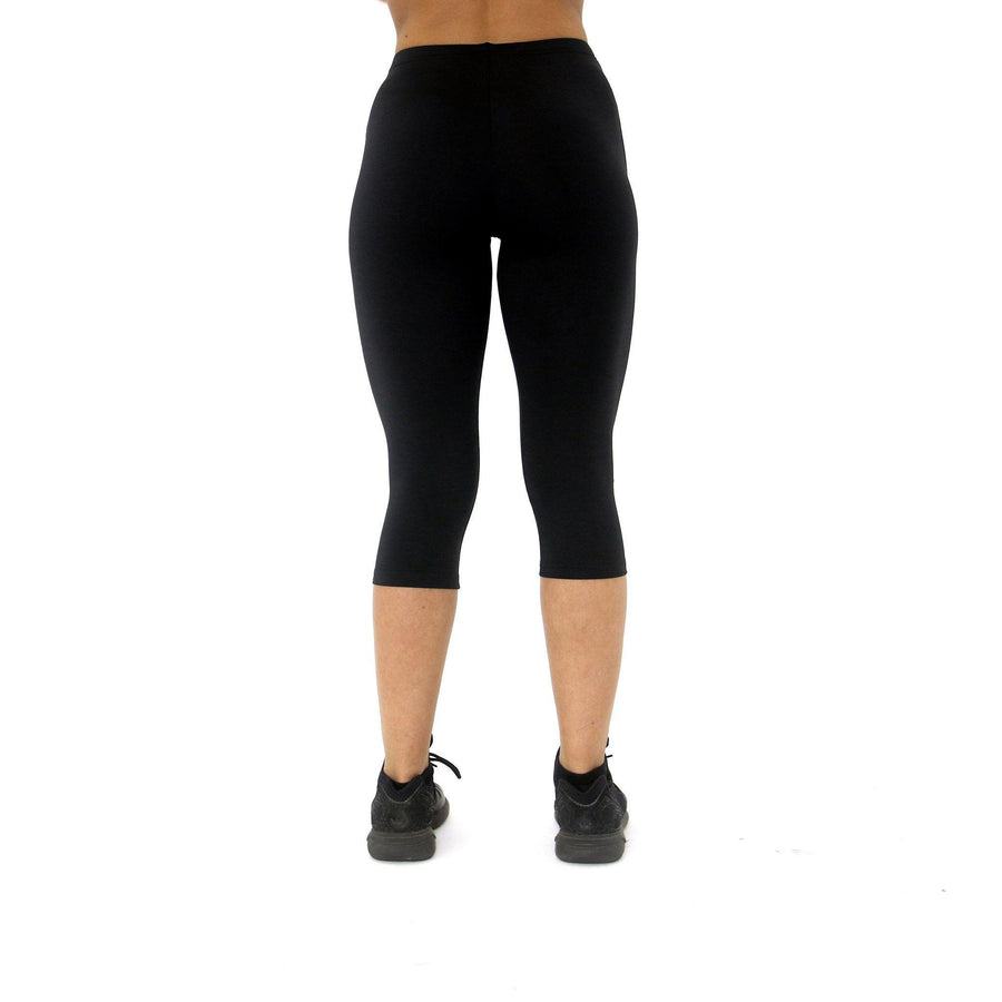 Merakilo Patina Crop Leggings- Black - merakilo