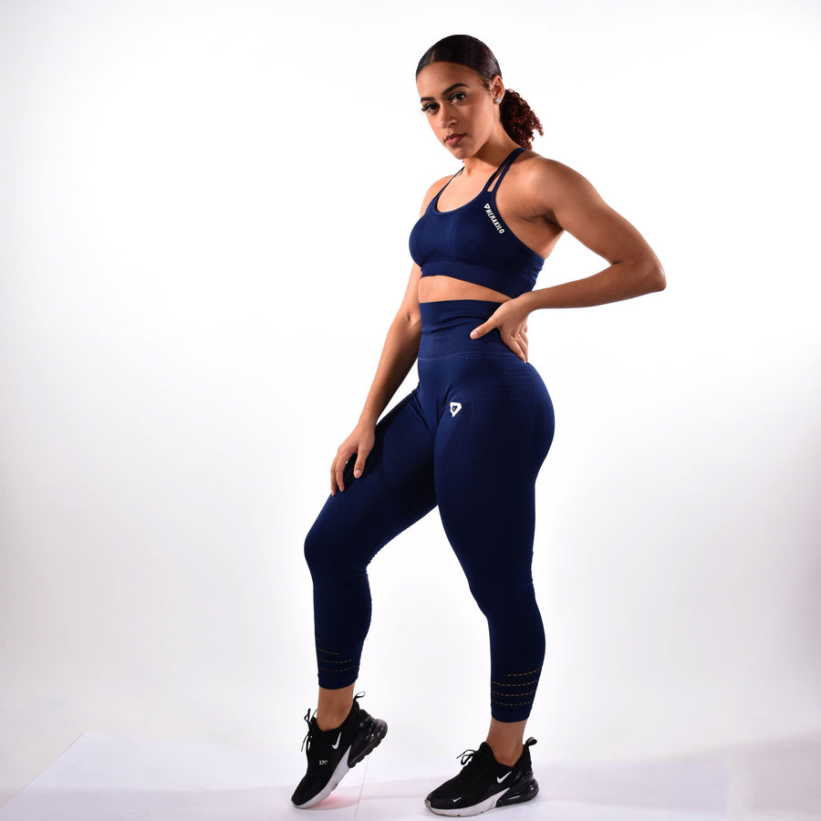 Bottoms & Leggings - Merakilo Pulse Seamless Leggings - Admiral Blue