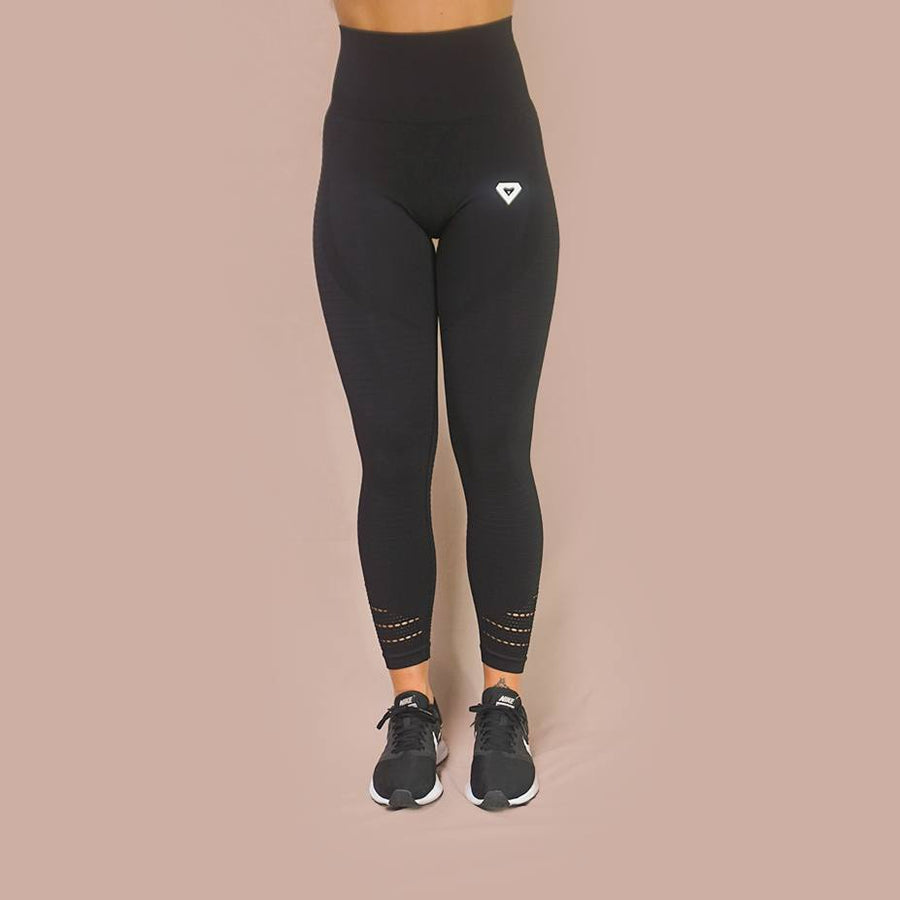 Bottoms & Leggings - Merakilo Pulse Seamless Leggings - Vantablack
