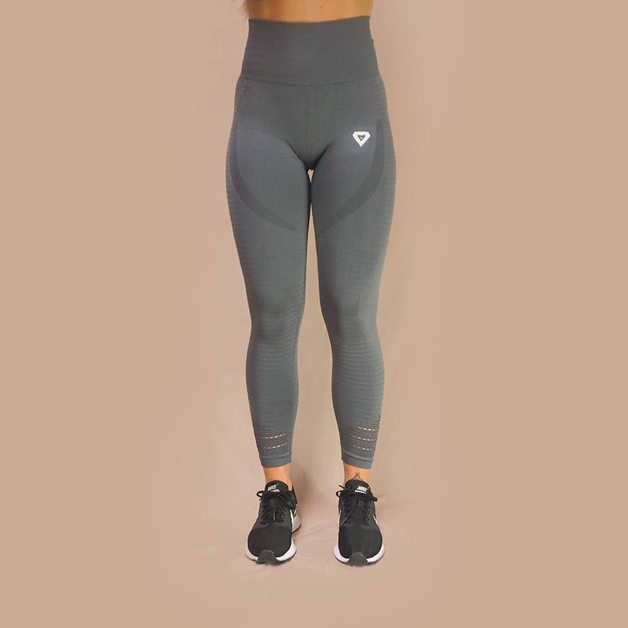 Merakilo Pulse Seamless Leggings - Wolf Grey - merakilo