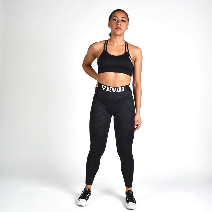 Bottoms & Leggings - Merakilo Vortex Leggings - Black Camo