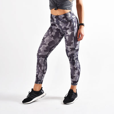 Bottoms & Leggings - Merakilo Women's Honeycomb Camo Leggings- Charcoal