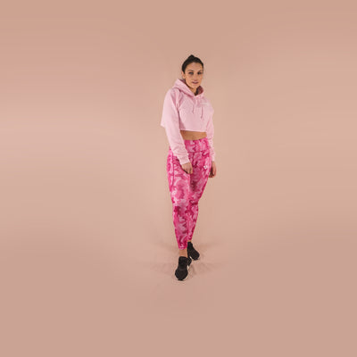 Merakilo Women's Honeycomb Camo Leggings- Hot Pink - merakilo