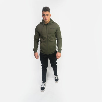 Merakilo Fluid Full Zip Jacket- Khaki - merakilo