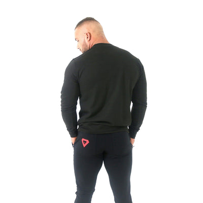 Merakilo Men's Crew Neck Jumper- Black - merakilo