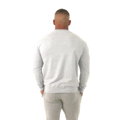 Merakilo Men's Crew Neck Jumper- Heather Grey - merakilo