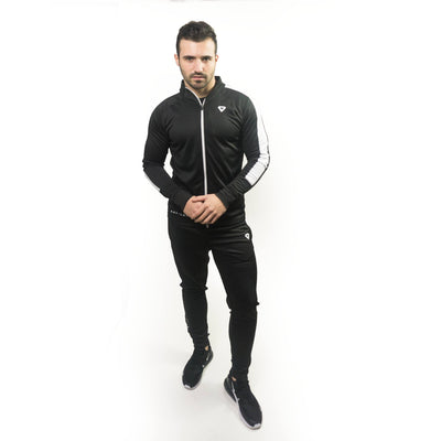 Merakilo Mens DRY-LUX Zip Jacket - Black/ White - merakilo