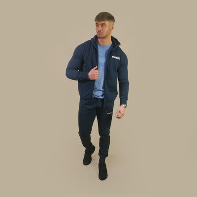 Merakilo Mens Requisite Zip Jacket - Navy - merakilo