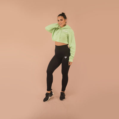 Merakilo Crop Hoodie- Apple Green - merakilo