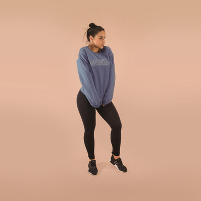 Merakilo Women's Crew Neck Jumper- Air force Blue - merakilo