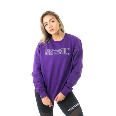 Merakilo Women's Crew Neck Jumper- Grape - merakilo