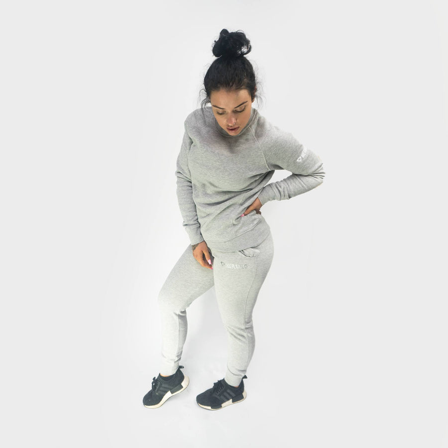 Merakilo Women's Crew Tracksuit - Heather Grey - merakilo