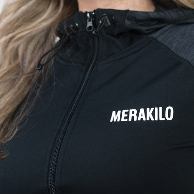 Merakilo Women's Ignite Zip-Jacket - Black - merakilo