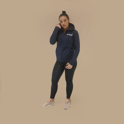 Merakilo Women's Requisite Zip Jacket - Navy - merakilo