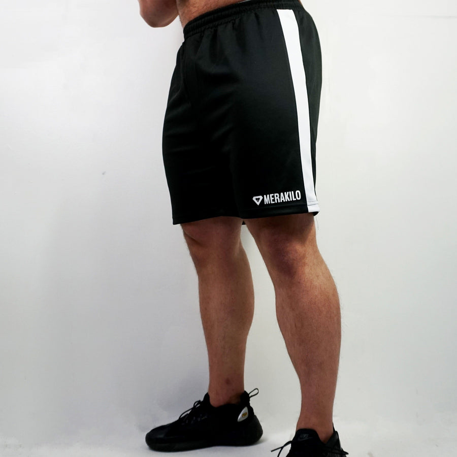 Mens Shorts - Merakilo Men's DRY-LUX Shorts - Black/ White