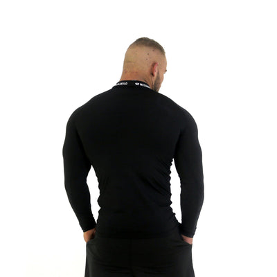 Merakilo Long Sleeve Compression Top - Black - merakilo