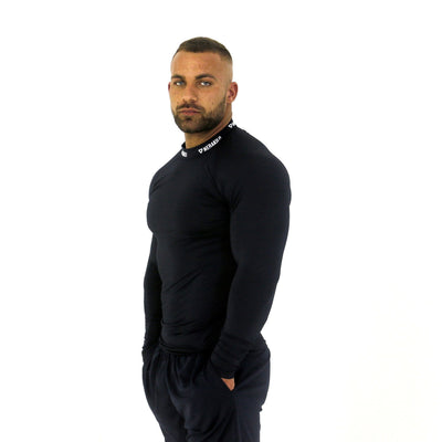 Merakilo Long Sleeve Compression Top - Navy - merakilo