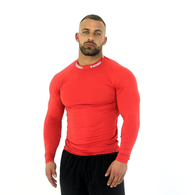 Merakilo Long Sleeve Compression Top - Red - merakilo