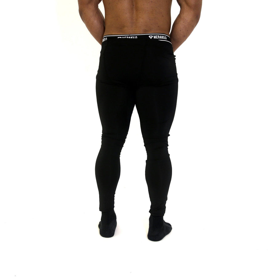 Merakilo Men's Compression Pants - Black - merakilo